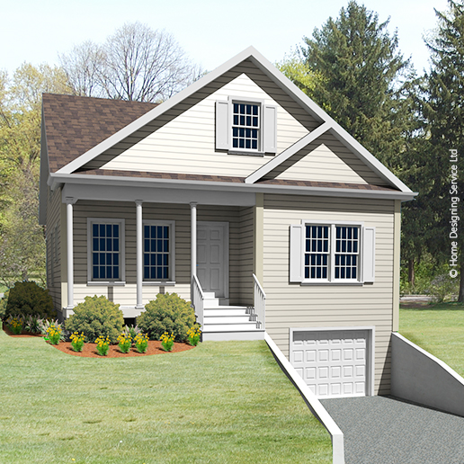 9221-CP-cape style house plan 3d rendering sq