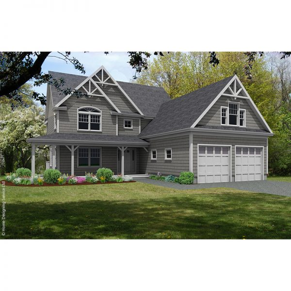 9840-U unique traditional style house plan 3d rendering sq