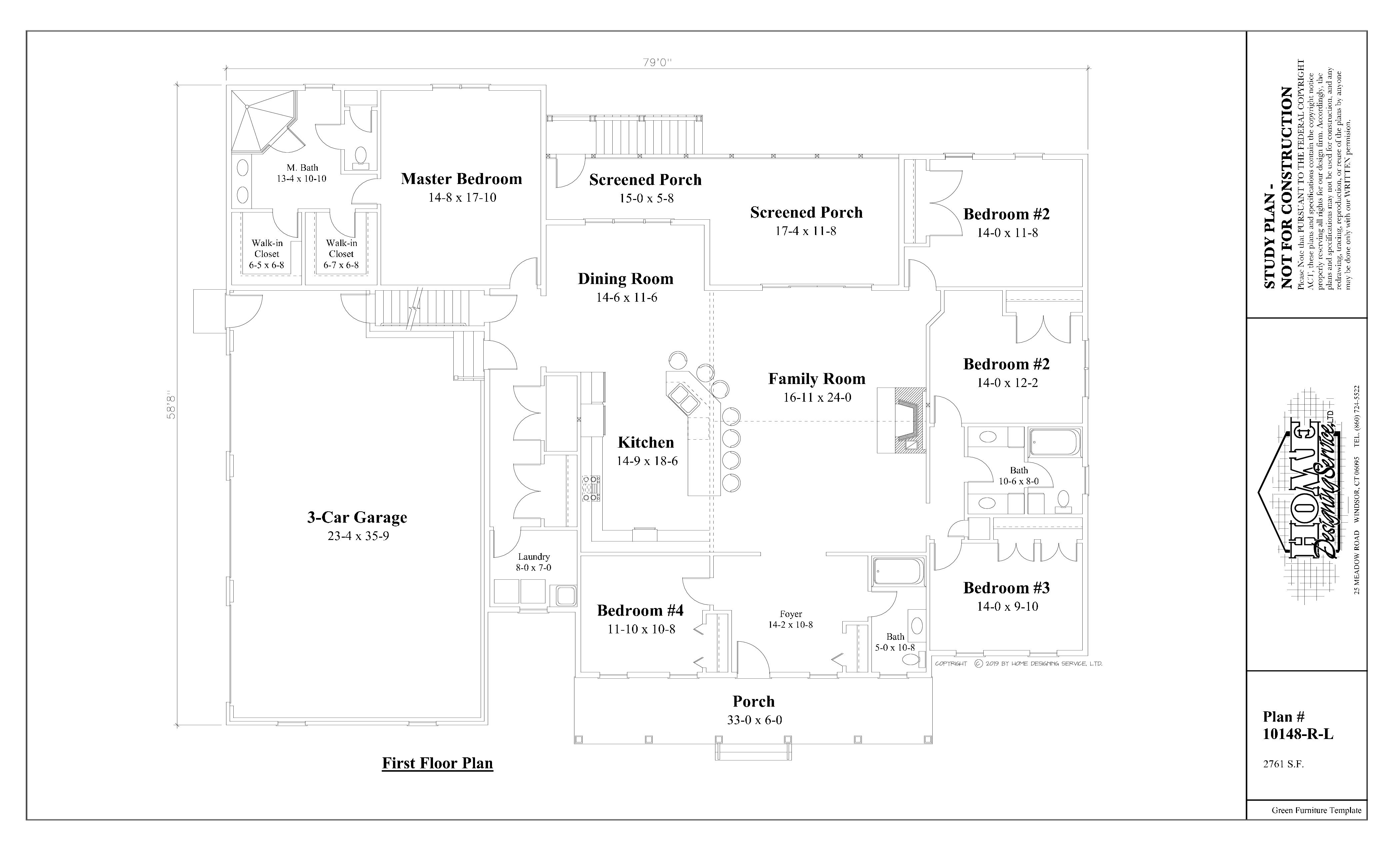 Ranch House Plan 10148-R-L - Home Designing Service Ltd.