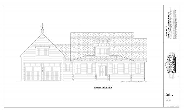 ss-10149cp-1 3 bedroom 2 bathroom cape house plan