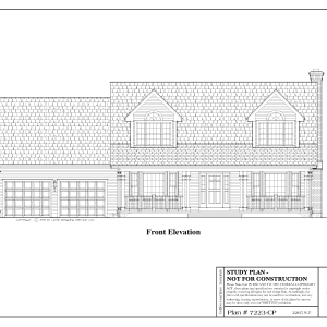 ss-7223cp-1 3 bedroom 2 bathroom cape house plan