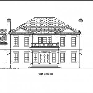 ss-7311cll-1 4 bedroom 4 bathroom colonial house plan