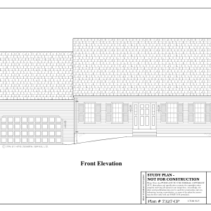 ss-7327-1 3 bedroom 2 bathroom cape house plan