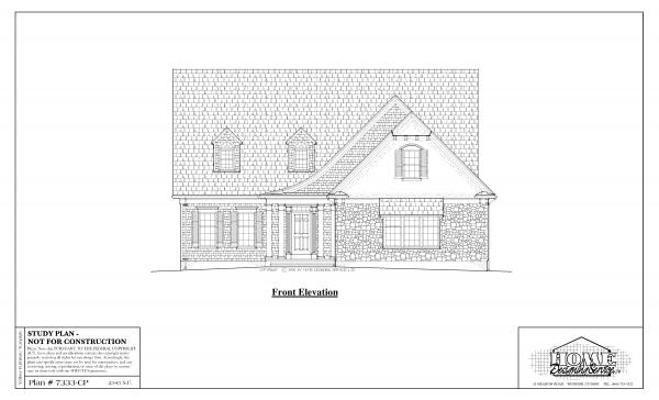 ss-7333cp-1 4 bedroom 2 bathroom cape house plan