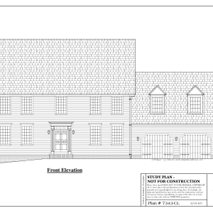 ss-7343cl-1 4 bedroom 2 bathroom colonial house plan