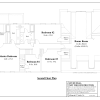 ss-7343cl-3 4 bedroom 2 bathroom colonial house plan