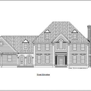 ss-7557cll-1 4 bedroom 3 bathroom colonial house plan
