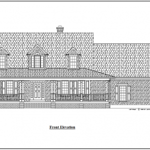 ss-7604cp-1 3 bedroom 2 bathroom cape house plan