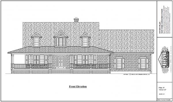 ss-7604cp-1 3 bedroom 2 bathroom cape house plan