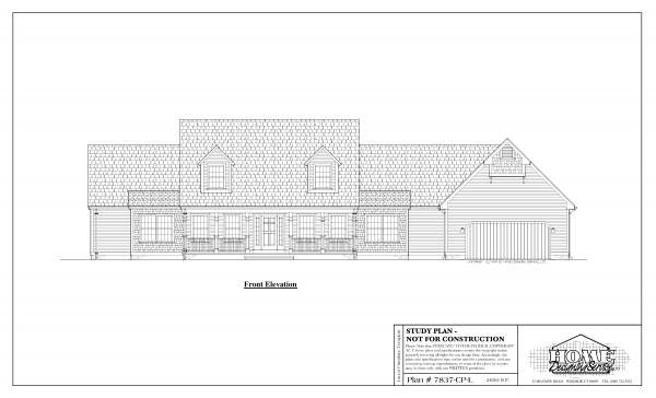 ss-7837cpl-1 3 bedroom 2 bathroom cape house plan