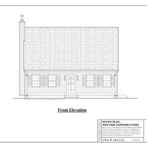 ss-7843cl-1 3 bedroom 1 bathroom cape house plan