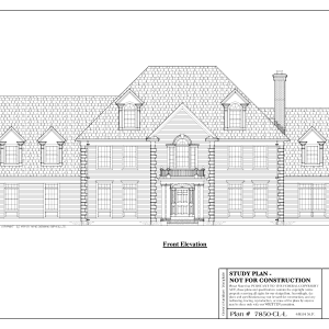 ss-7850cll-1 5 bedroom 3 bathroom colonial house plan