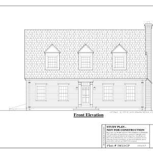 ss-7853cp-1 2 bedroom 2 bathroom cape house plan