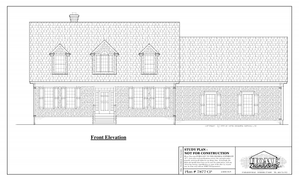 ss-7877cp-1 3 bedroom 2 bathroom cape house plan