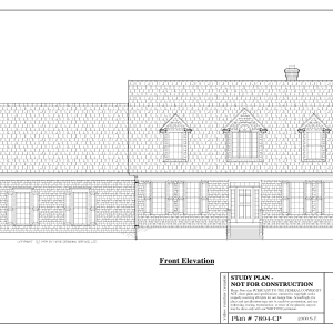 ss-7894cp-1 3 bedroom 2 bathroom cape house plan