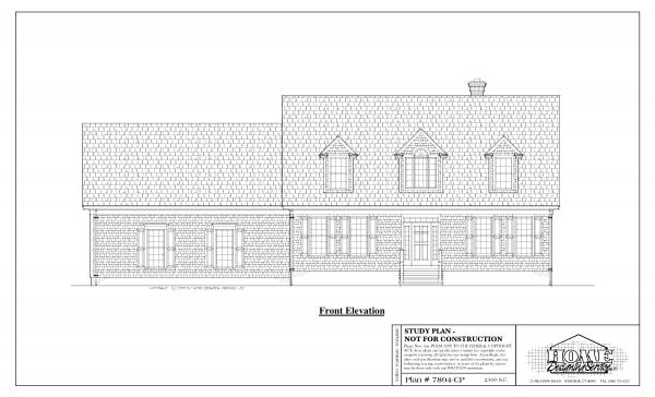 ss-7894cp-1 3 bedroom 2 bathroom cape house plan