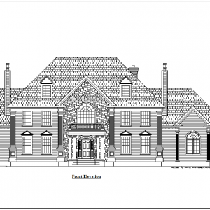 ss-8558cll-1 5 bedroom 4 bathroom colonial house plan