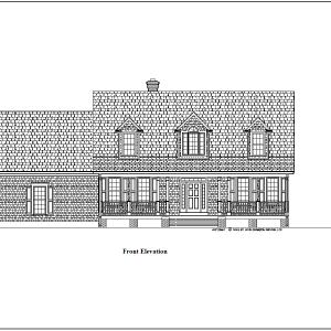 ss-8891cp-1 3 bedroom 2 bathroom cape house plan
