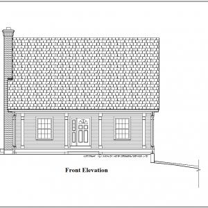 ss-8900cp-1 1 bedroom 1 bathroom cape house plan