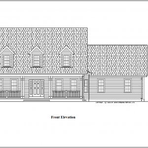 ss-8914cp-1 3 bedroom 2 bathroom cape house plan