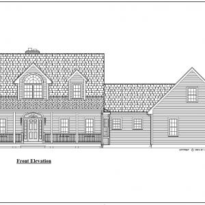 ss-8936cp-1 3 bedroom 2 bathroom cape house plan