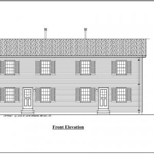 ss-8956d-1 8 bedroom 4 bathroom duplex house plan
