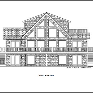 ss-9114ch-1 2 bedroom 2 bathroom chalet house plan