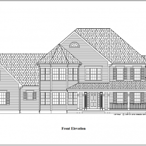 ss-9125cl-1 4 bedroom 2 bathroom colonial house plan
