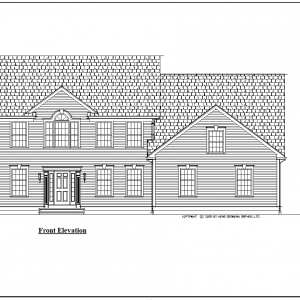 ss-9151cl-1 4 bedroom 2 bathroom colonial house plan