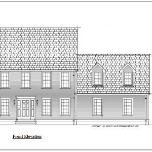 ss-9152cl-1 3 bedroom 2 bathroom colonial house plan