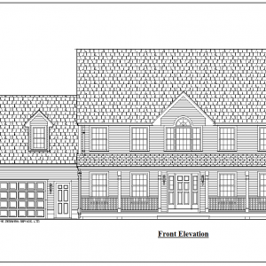 ss-9153cl-1 3 bedroom 2 bathroom colonial house plan