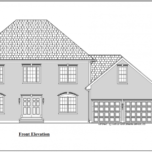 ss-9155cl-1 4 bedroom 2 bathroom colonial house plan