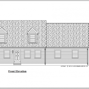 ss-9185cp-1 3 bedroom 2 bathroom cape house plan