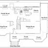 ss-9192u-2 4 bedroom 2 bathroom unique house plan