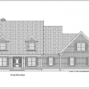 ss-9205cp-1 4 bedroom 4 bathroom cape house plan