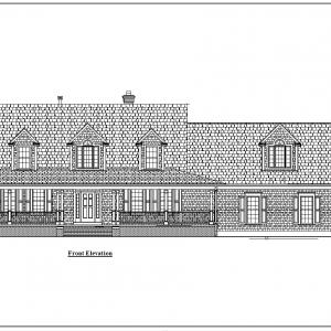 ss-9218cp-1 3 bedroom 3 bathroom cape house plan