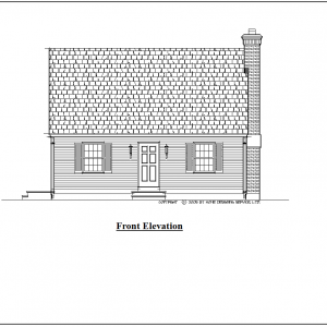 ss-9266cp-1 2 bedroom 1 bathroom cape house plan