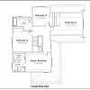 ss-9840u-3 4 bedroom 2 bathroom unique house plan