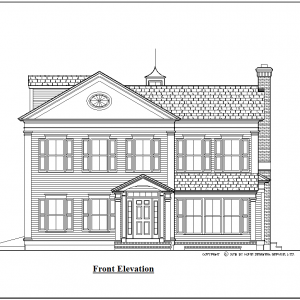 ss-10000cll-1 4 bedroom 3 bathroom colonial house plan