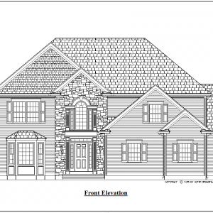 ss-10016cl-1 4 bedroom 2 bathroom colonial house plan