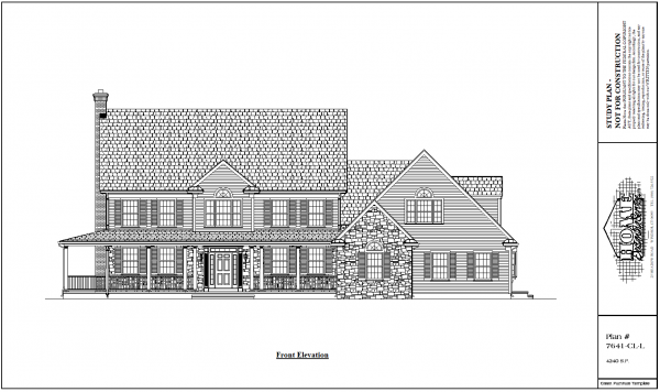 ss-7641cll-1 5 bedroom 3 bathroom colonial house plan