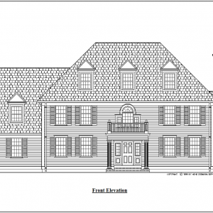 ss-7922cl-1 4 bedroom 3 bathroom colonial house plan