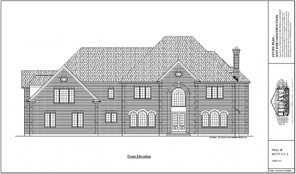 ss-8777cll-1 4 bedroom 3 bathroom colonial house plan