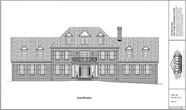 ss-9518cll-1 4 bedroom 2 bathroom colonial house plan
