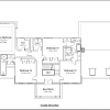 ss-9518cll-3 4 bedroom 2 bathroom colonial house plan