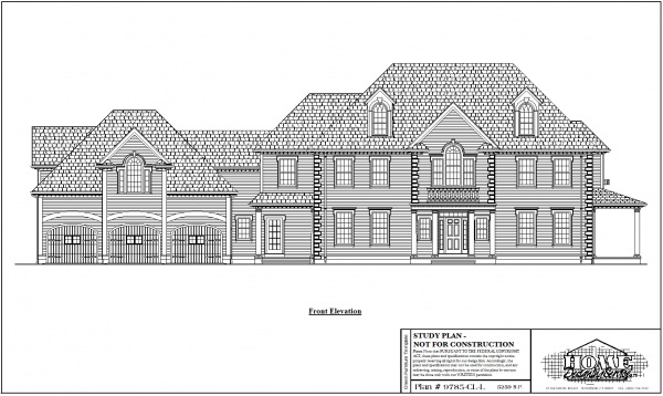 ss-9785cll-1 4 bedroom 4 bathroom colonial house plan