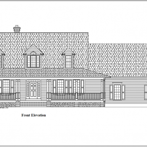 ss7182cp-1 3 bedroom 2 bathroom cape house plan