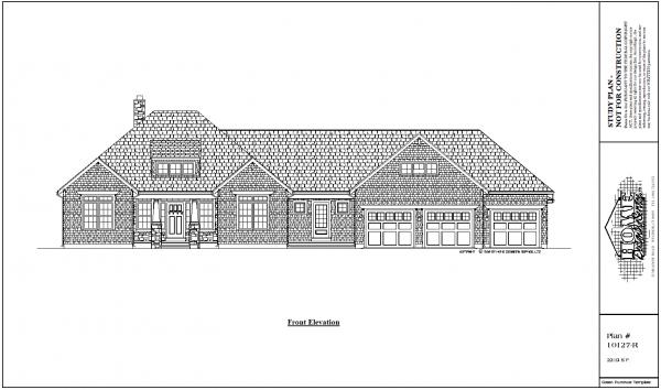 ss-10127r-1 3 Bedroom 2 Bathroom Ranch House plan