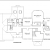 ss-7566cll-3 4 bedroom 2 bathroom colonial house plan