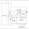 ss-7691sbl-7 4 bedroom 2 bathroom saltbox house plan